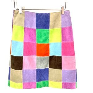 Partridge Family Boho Suede Skirt Size 10